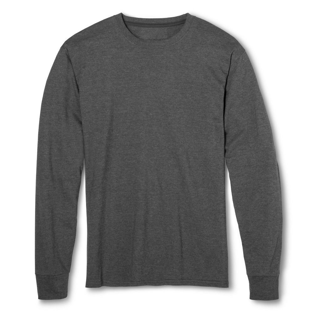 2f453349933 Men s Fruit of the Loom Long Sleeve T-Shirts Charcoal Heather -S ...