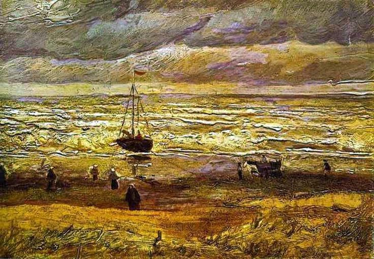 View of the Sea at Scheveningen, 1882. Stolen from the Van Gogh Museum on 7 December 2002.