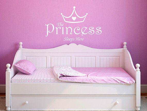 Baby Girl Wall Decal: The Princess Sleeps Here - Nursery Wall