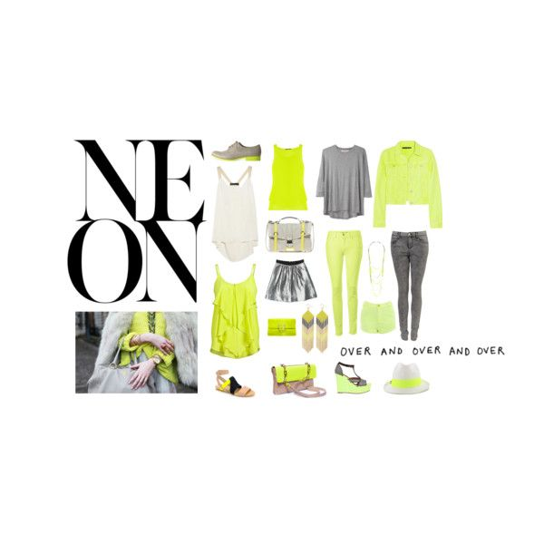 capsule collection: neon, created by fridie on Polyvore