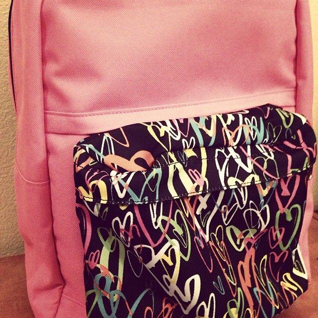 Neon Hearts Medium Pocket