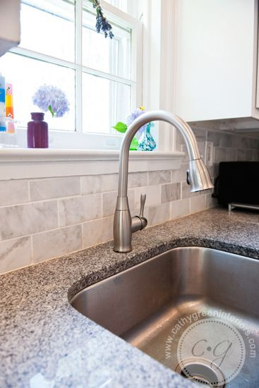Cathy Green Interiors Kitchen Renovation Marble Backsplash