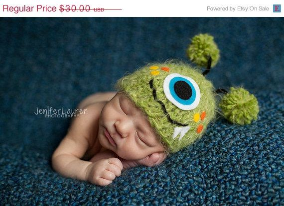135fa543677 Cute little monster hat great photography prop.