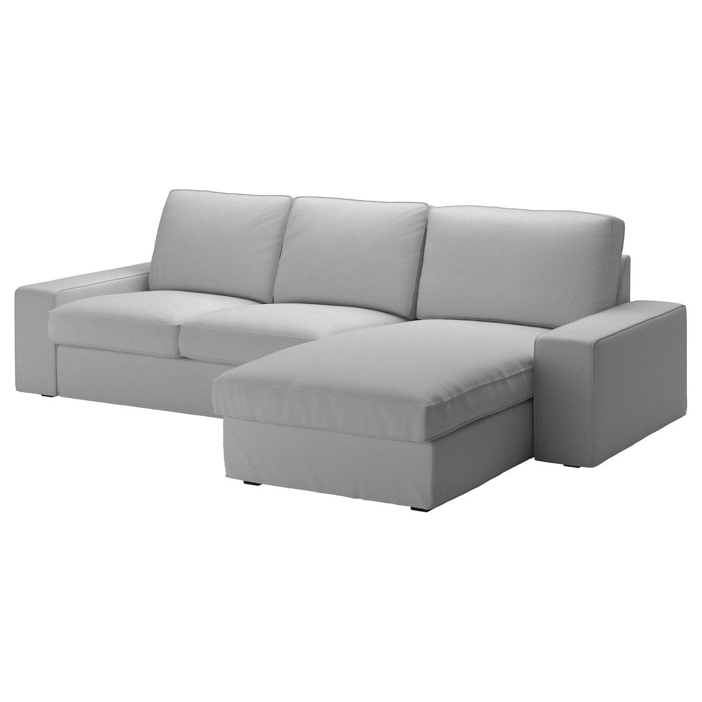 Kivik Sofa With Chaise Orrsta Light Gray Ikea In 2020 Kivik Sofa Couch With Chaise Cheap Sofas