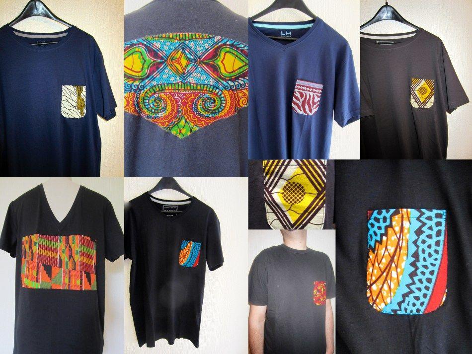 174d3b9f1801 tee shirt personnalisés en tissu wax africain. Céwax personnalise vos  vêtements avec du pagne et met des touches de couleurs dans votre dressing.  www.cewax. ...