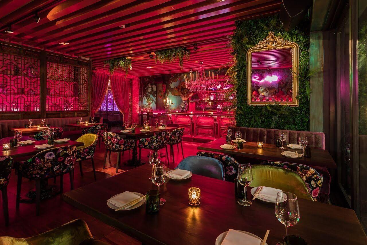 Image result for u shaped restaurant bars Asian