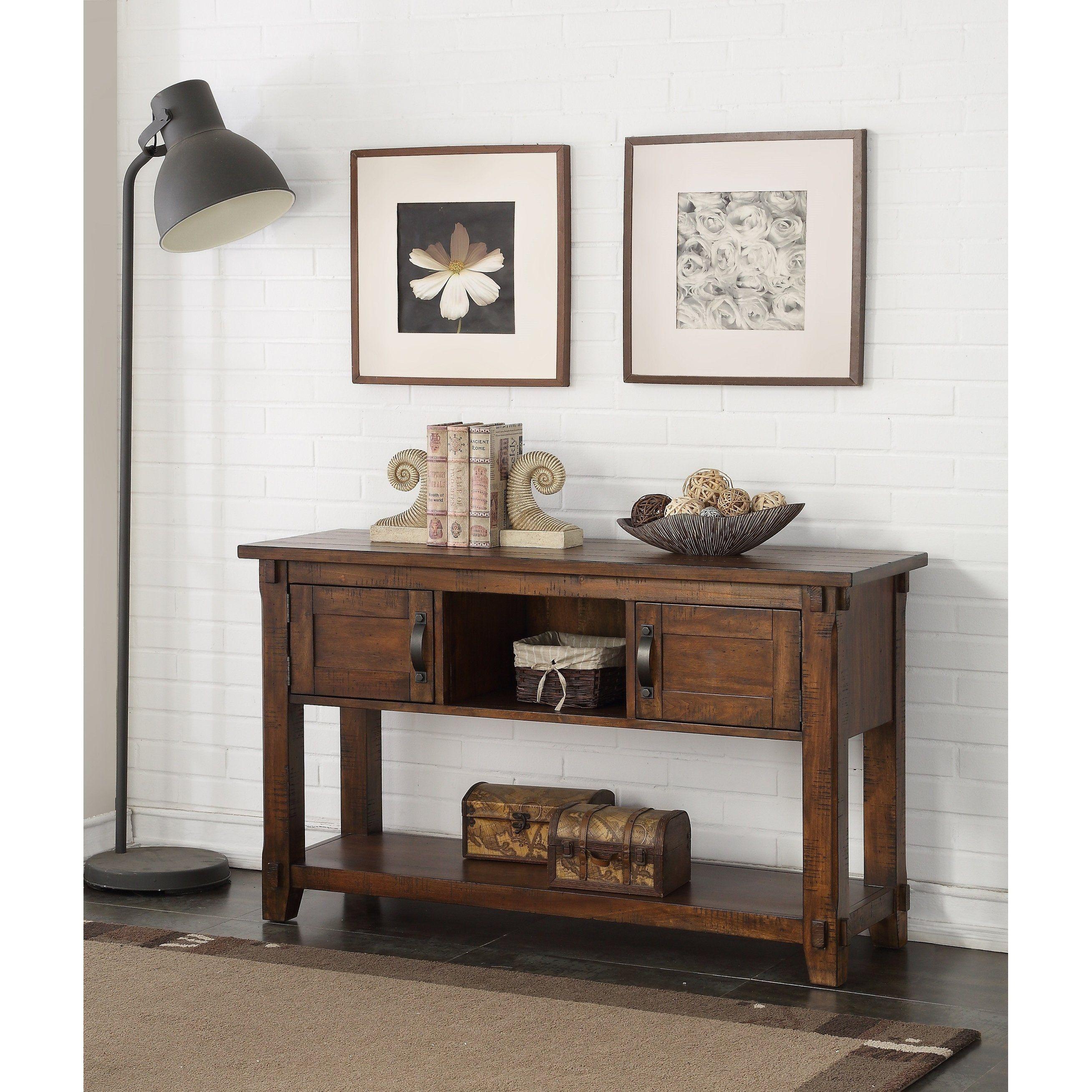 Remarkable Carbon Loft Ebersole Walnut Brown Wood Rustic Sofa Table Inzonedesignstudio Interior Chair Design Inzonedesignstudiocom