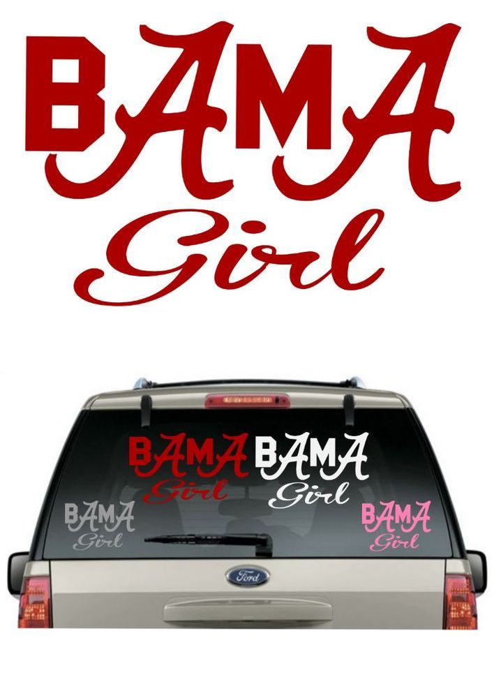 Buy 2get 1 freealabama girl car decal various