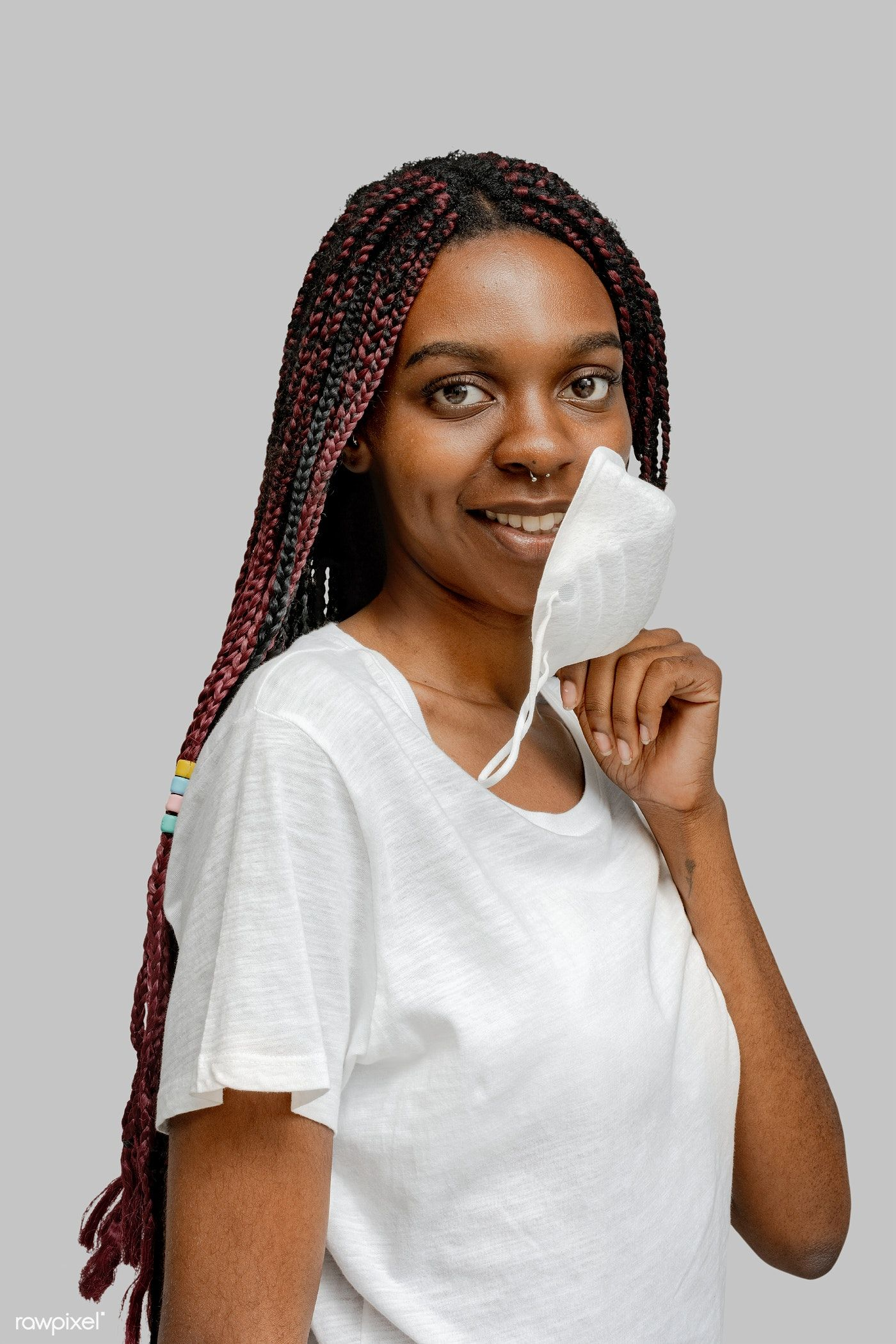 Smiling Black Woman Wearing A Mask Transparent Png Premium Image By Rawpixel Com Teddy Rawpixel