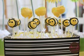 Enchanted Events & Design: {Tutorial} Bumble Bee Cake Pops