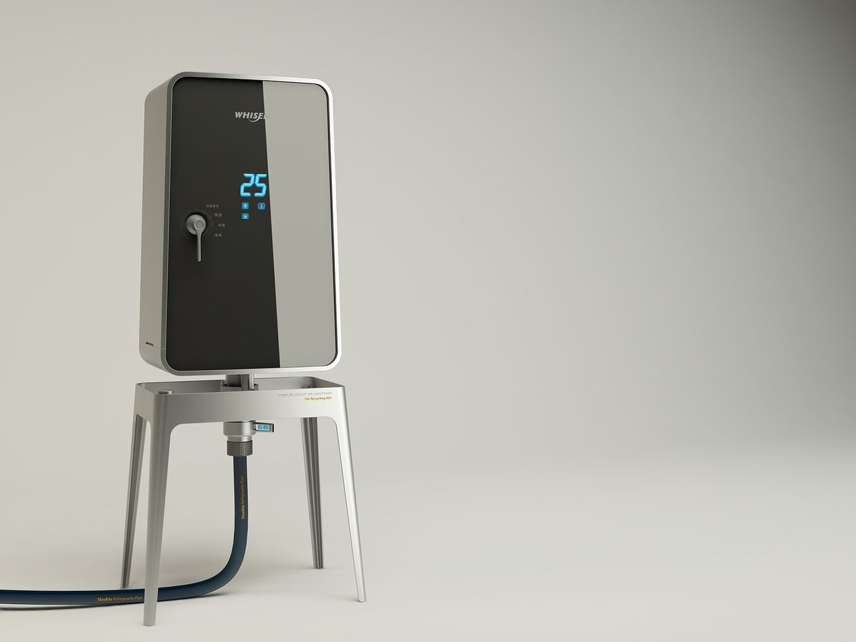 lg electronic concept air conditioner   industrial design