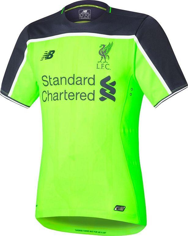 New Balance Lanca Terceira Camisa Do Liverpool Camisa Camisa De Futebol Camisas De Futebol