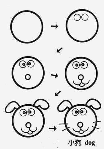 Draw dog circle