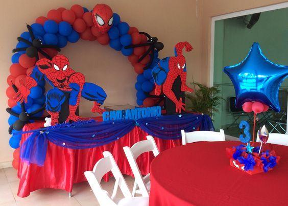 Ideas Para Decorar Una Fiesta Del Hombre Araña Fiesta Tematica Hombre Araña Decoracion Del Spiderman Birthday Party Spiderman Theme Party Spiderman Birthday