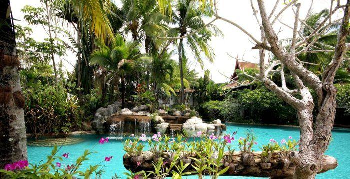 Aménagement jardin avec une touche d\u0027exotisme- 50 photos - amenagement bord de piscine