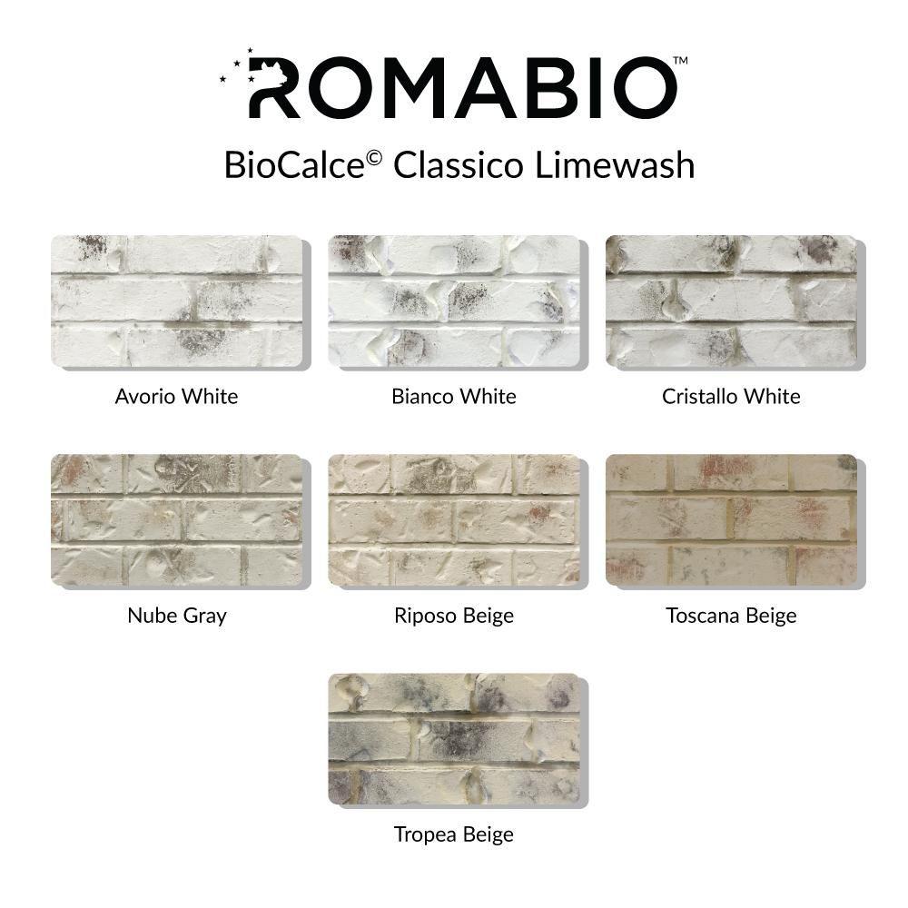 Romabio 1 Qt Riposo Beige Limewash Interior Exterior Paint 10116