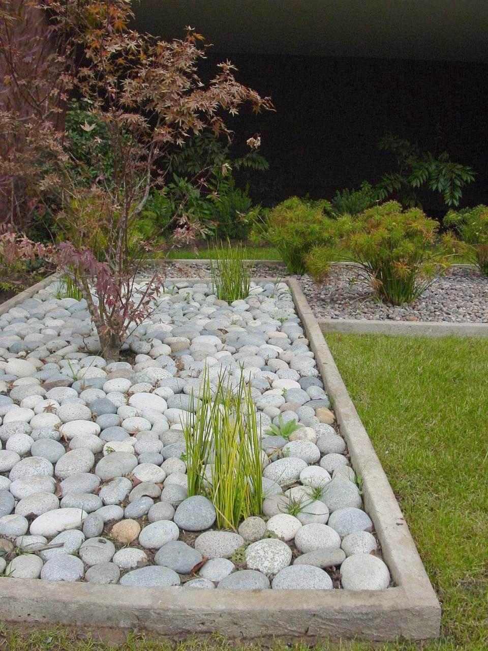 Bolon soledad astorquiza jardines con piedras for Canteros de jardin