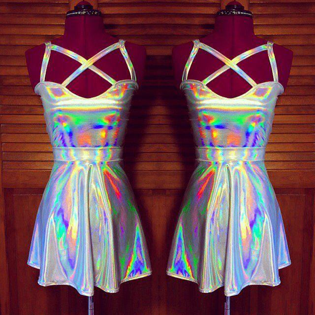 957ea75848e Image of Holographic harness 2 piece set