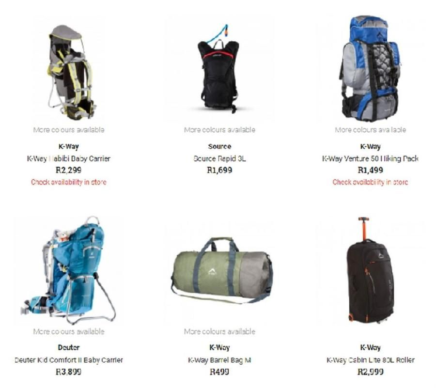 7f4d36cb45 Cape Union Mart : Backpacks & Day packs (12 Mar - 15 Apr 2018), page ...