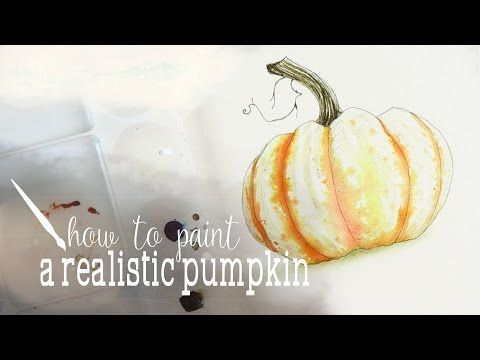 How To Paint A White Pumpkin Plus Three Color Challenge Plus Ink - YouTube