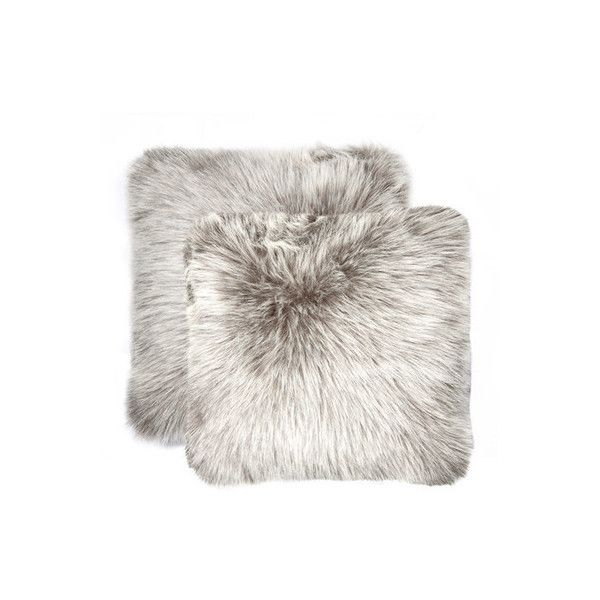 Free Shipping Luxe Faux Fur Pillows Throws Liked On