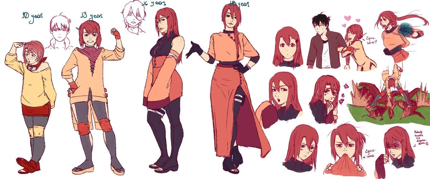 original character for naruto nana 16 years old original design