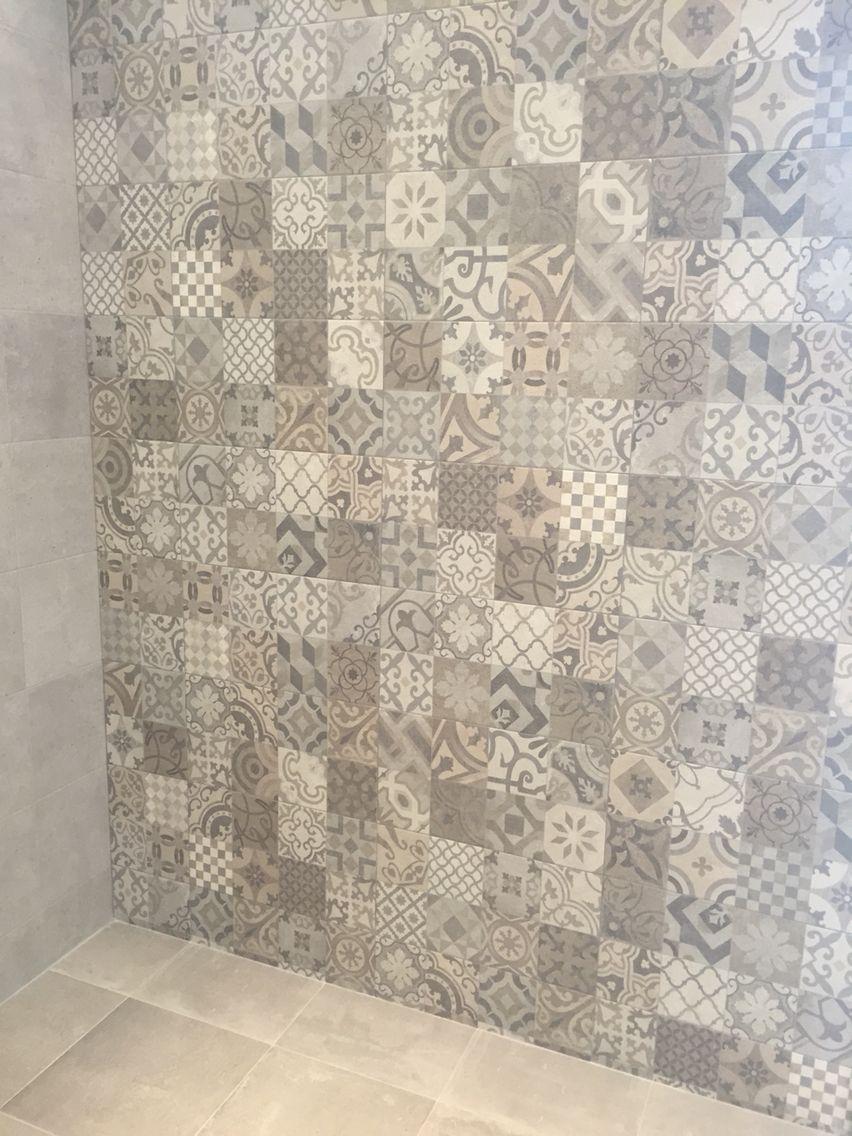 Porcelanosa Dover Antique neutral mix traditional square tile... Use ...