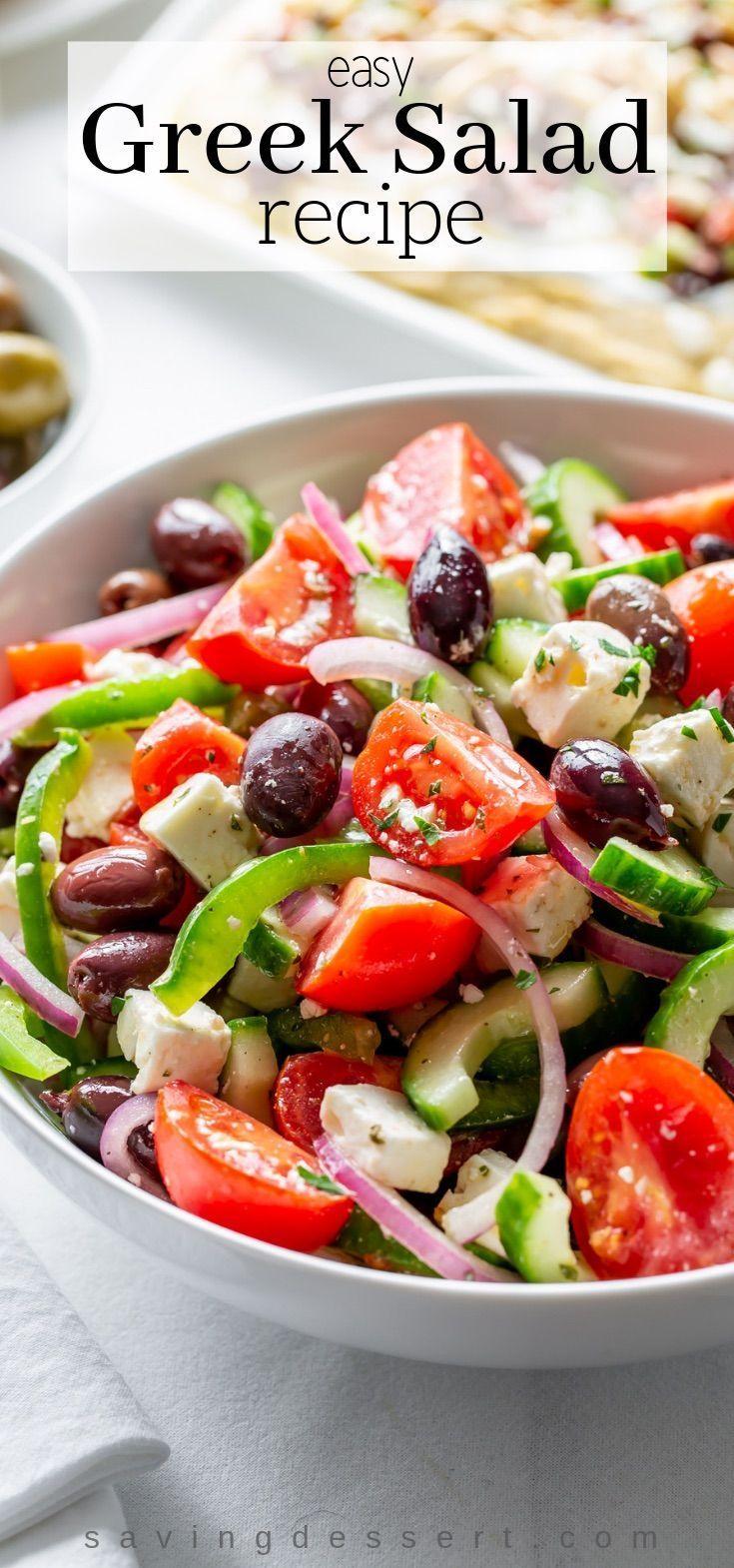 Easy Greek Salad Recipe - Saving Room for Dessert