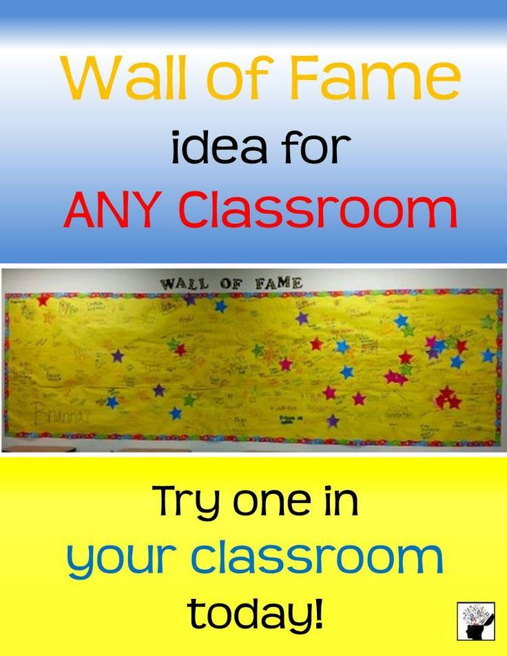 Wall of Fame Classroom Idea | Classroom Ideas | Pinterest | Math ...