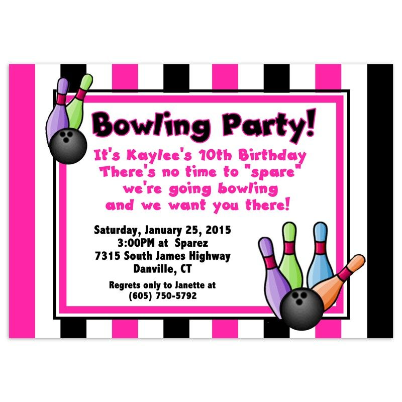 Nice Free Bowling Birthday Party Invitations Download this ...