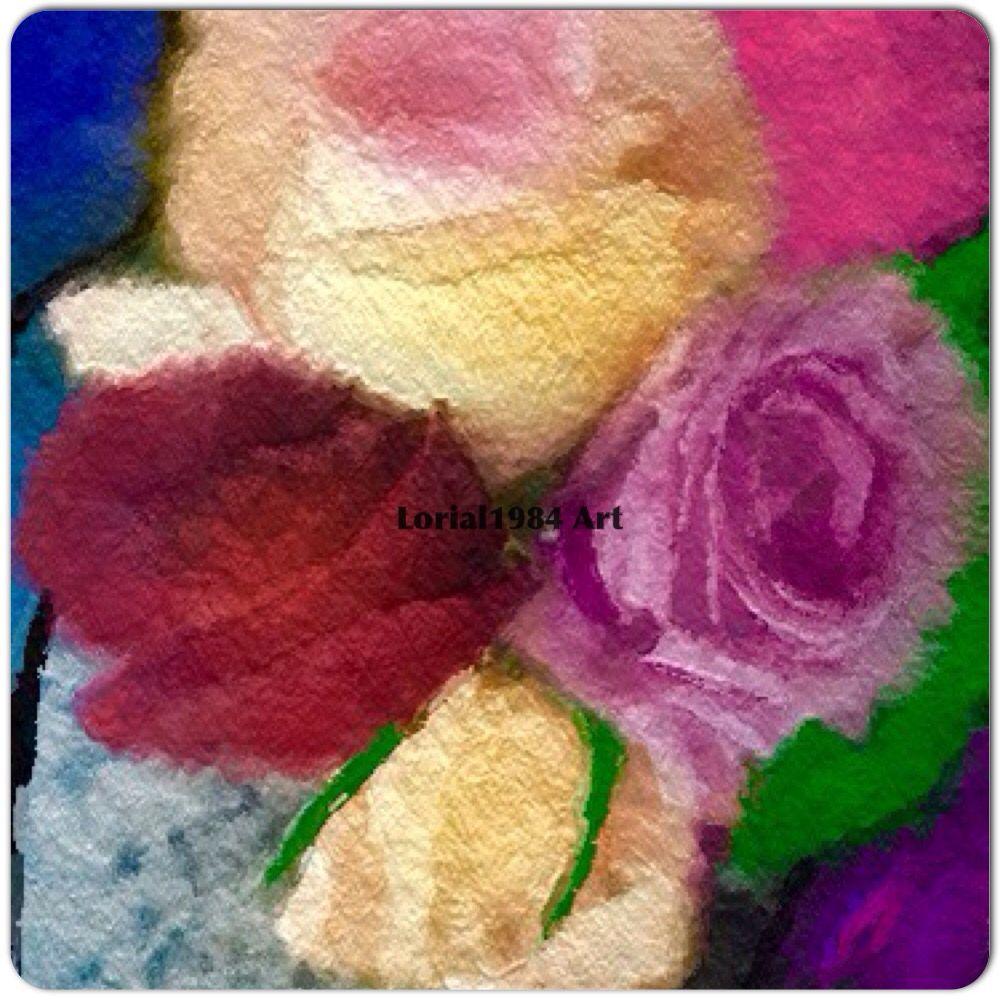 #lorial1984Art painting of Birthday Roses