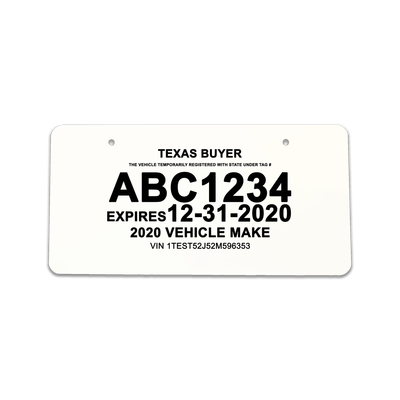 Image result for texas temporary dealer tags   You in 2019