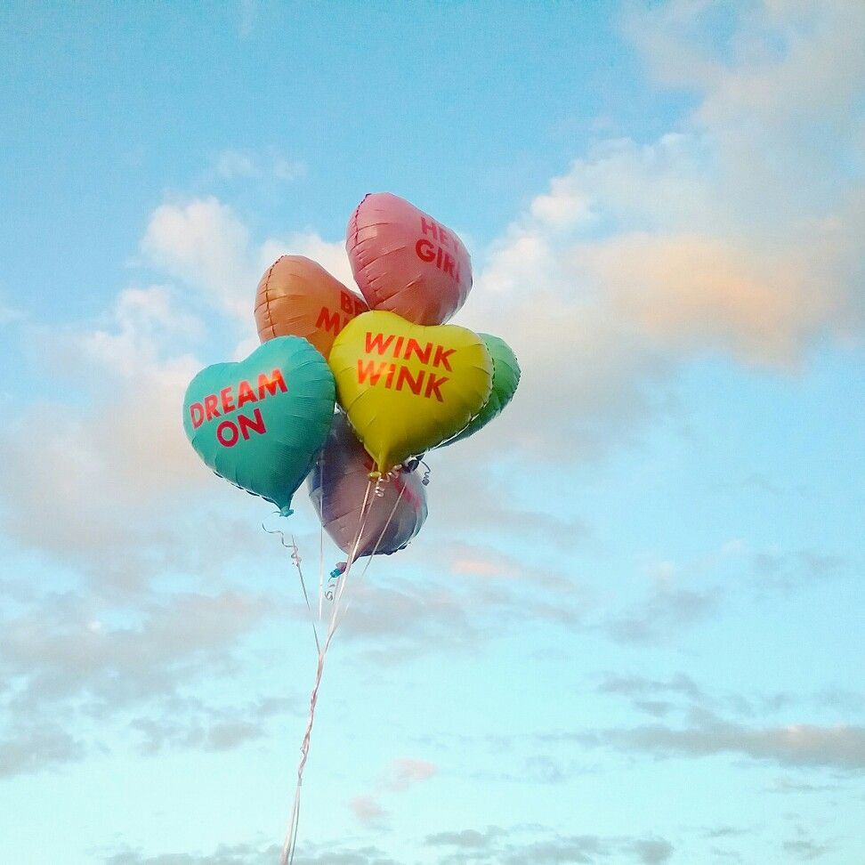 Conversation Hearts Valentines Day Balloons #troopstudiosiy #studiodiyballoons
