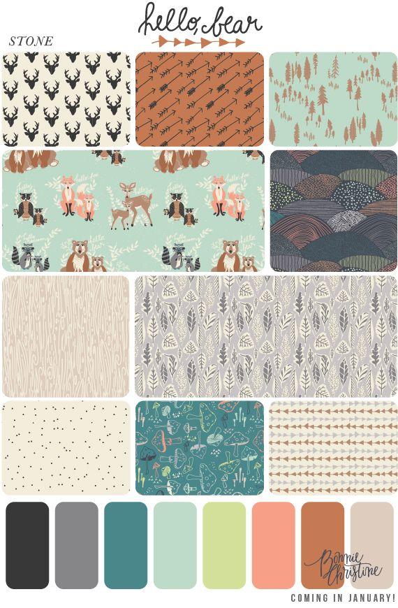 announcing: hello, bear! #ArtGalleryFabrics #Fabric #Sew #Quilt #Fashion #Design #DIY #Creative