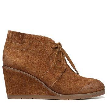 e27643815290 Franco Sarto Women s Austine Wedge Bootie Cognac Suede