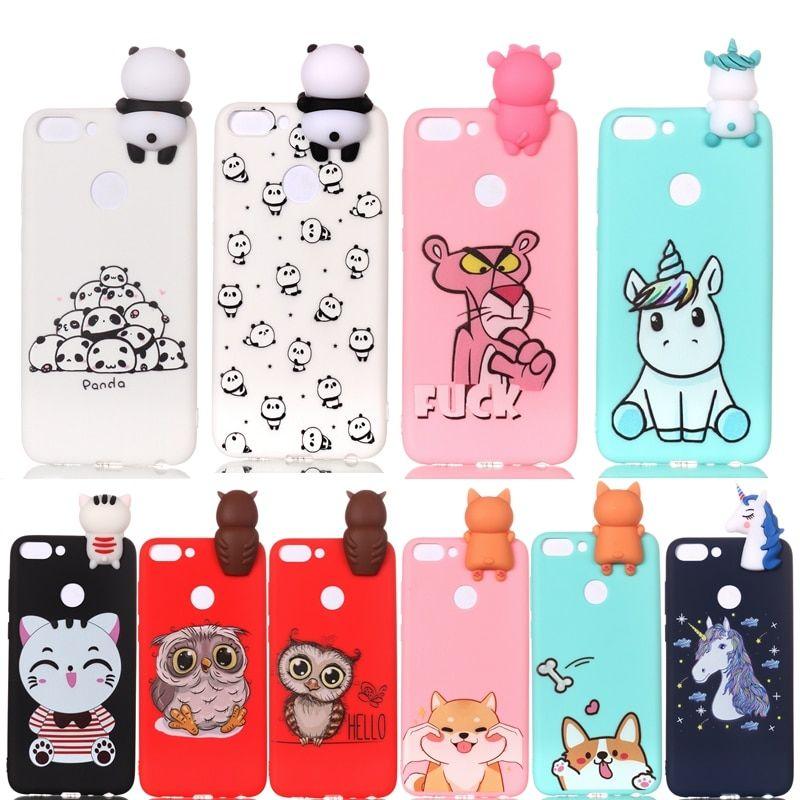 Cartoon 3d Unicorn Panda Dog Huawei P Smart Case Kawaii Phone Case Smart Case Diy Phone Case