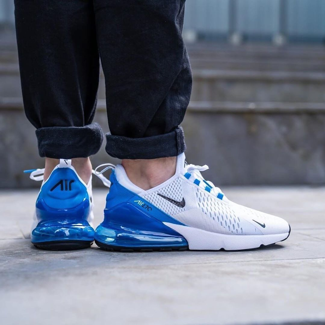 Nike Air Max 270 In White Blue Do You Like These Sneakers Follow Totals Nikeairmax Blue Air Max Air Max 270 Air Max Women