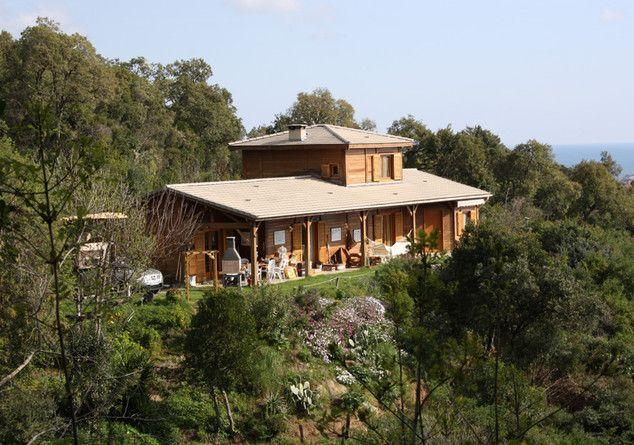 Maison en bois, 3 chambres avec Salle de bain, séjour salon, cuisine
