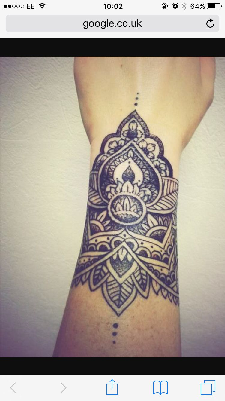 Mandala Wrist Tat It Up Pinterest Tatouage Tatouage Bras And