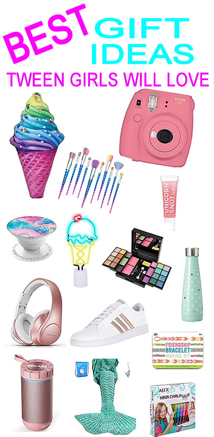 Best Gift Ideas Tween Girls Will Love Find All Kinds Of Gift Ideas Ranging From Cheap To Expensive Cool Gifts For Teens Tween Christmas Gifts Tween Birthday