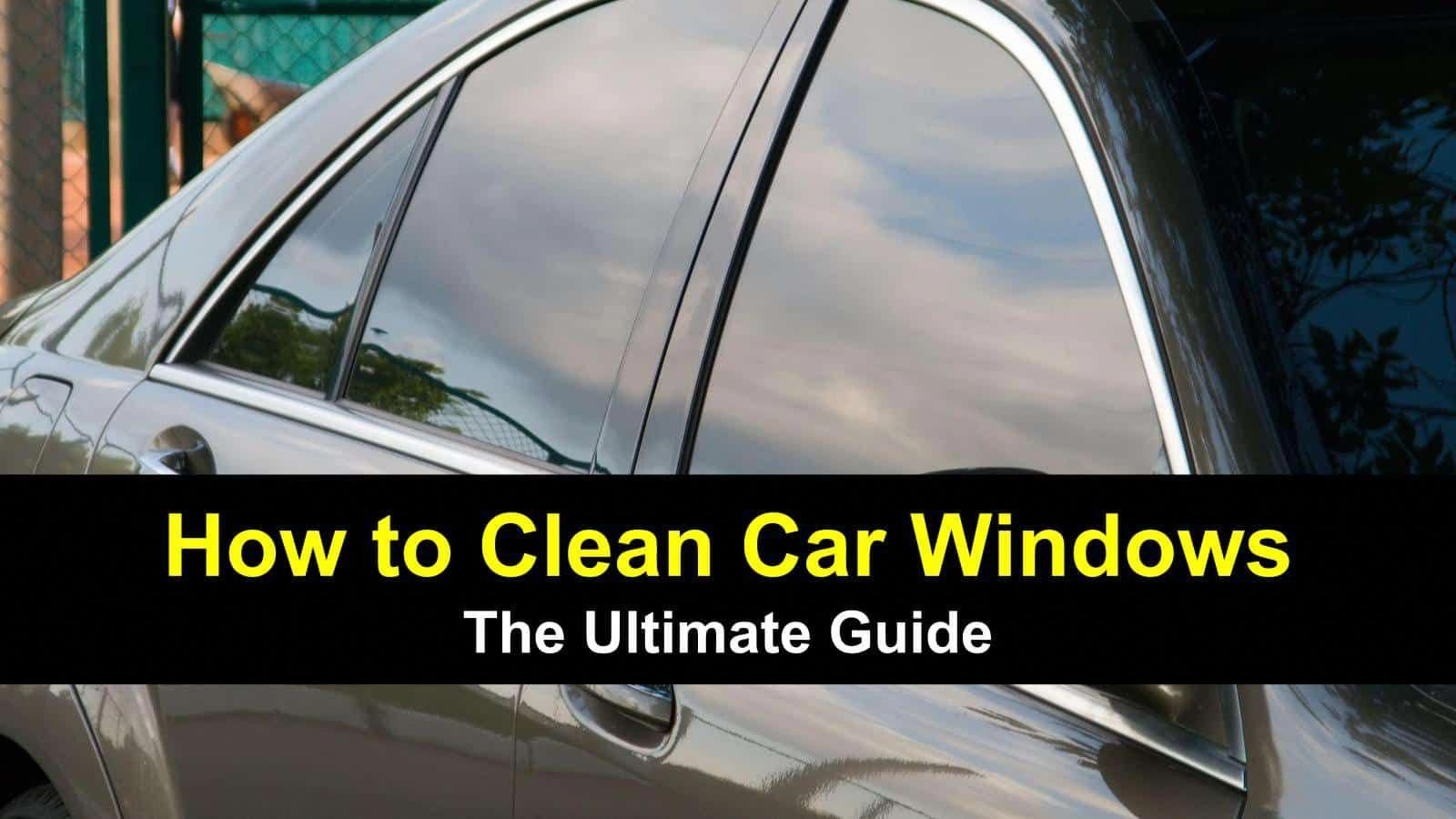 how to wash car windows, along with interiors and wipers