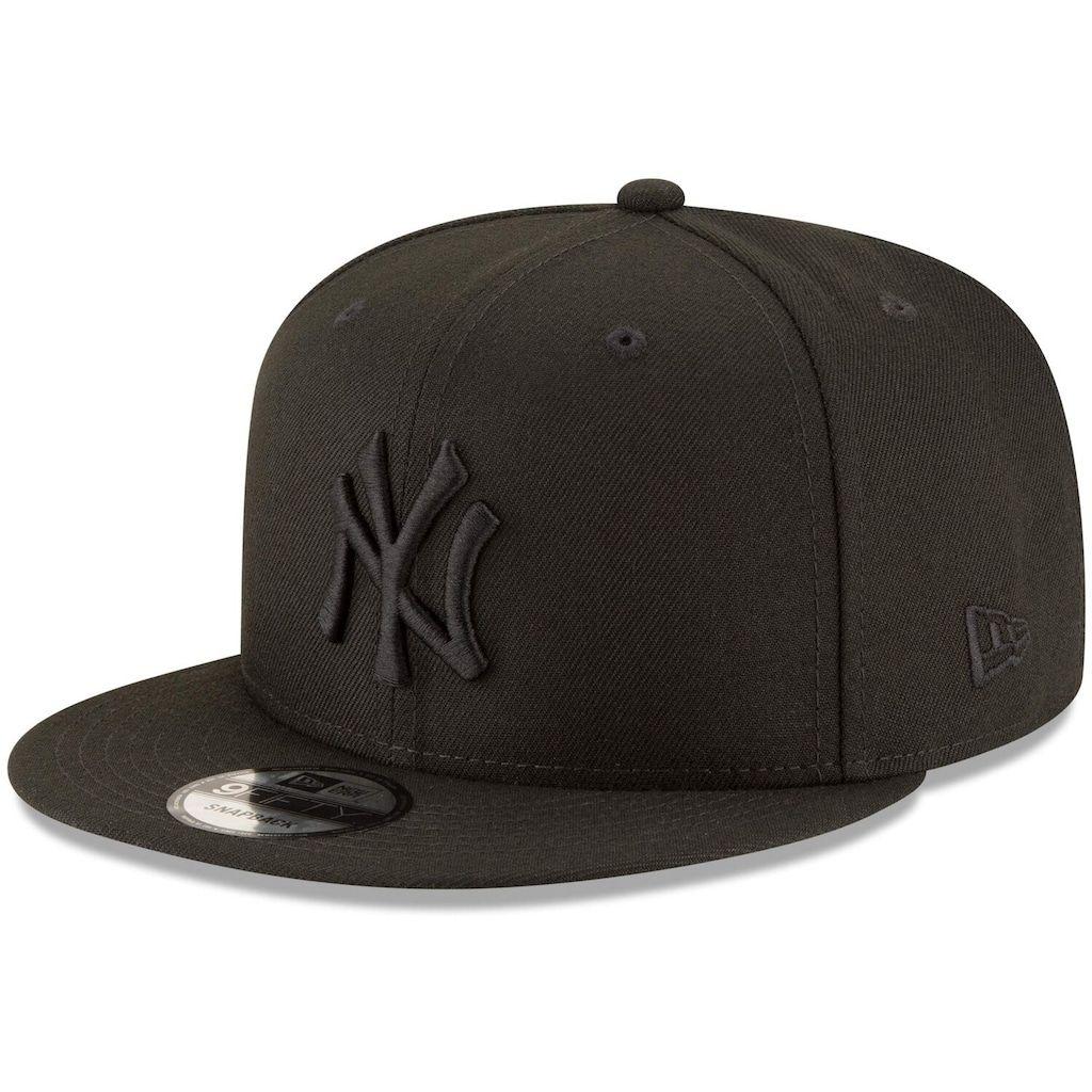 New York Yankees New Era Black On Black 9fifty Team Snapback Adjustable Hat Black En 2020 Gorras Snapback Gorras Snapback