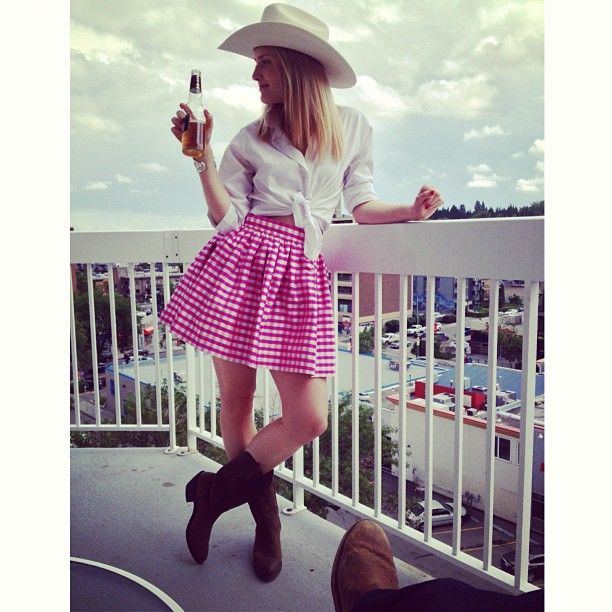 """Just a cowgirl and a cowboy 