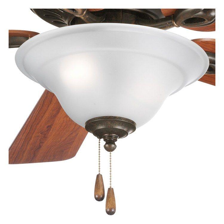 Progress P2628 77 Trinity Three Light Ceiling Fan Light Fan