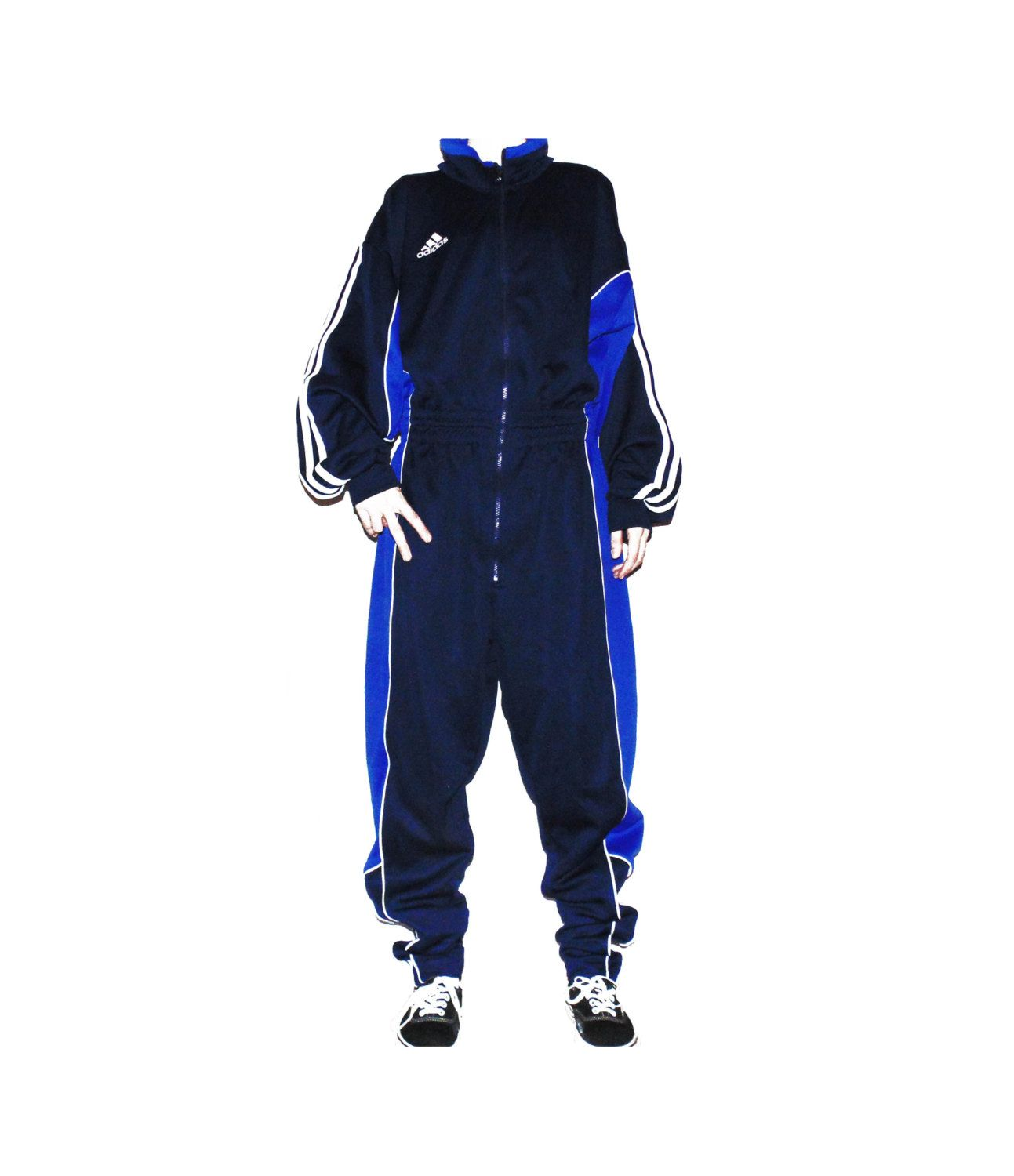 34fe9e4a90f ADIDAS free size vintage retro tracksuit   adidas overall   adidas jumpsuit    80s old school adidas M-L-XL men jumpsuit blue adidas (47.00 EUR) by  SunnyCsc