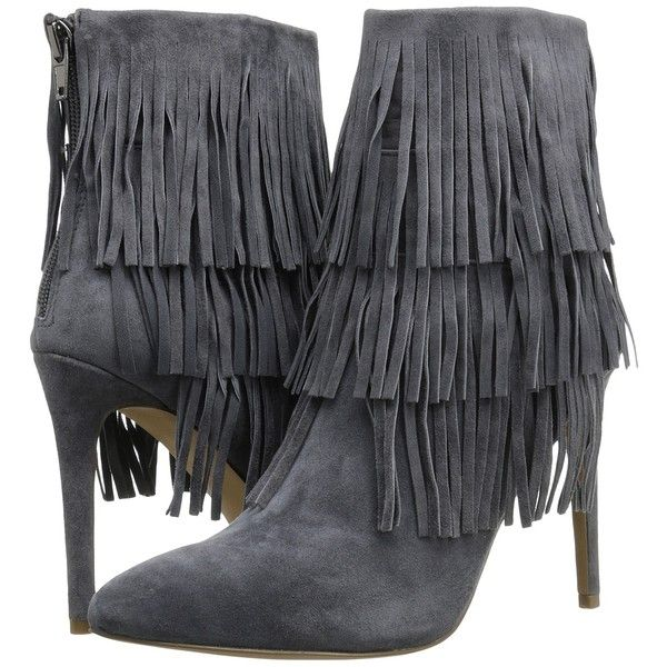 b2fc048d8f6 Steve Madden Flappper (Grey Suede) High Heels ( 85) ❤ liked on Polyvore