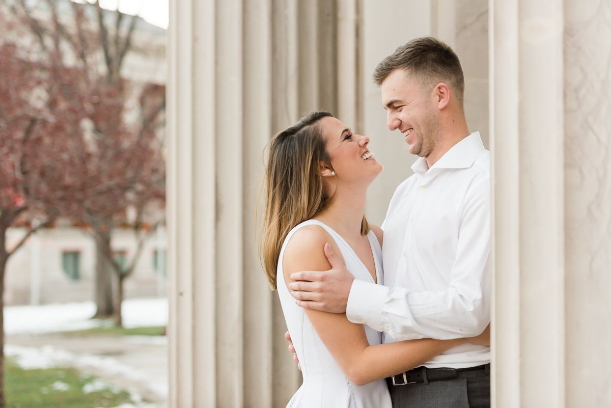 Downtown Grapevine Engagement Photos in 2021   Engagement