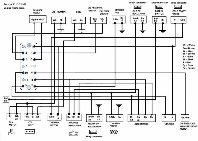 1977 Porsche 911s Wiring Diagram | Porsche wiring