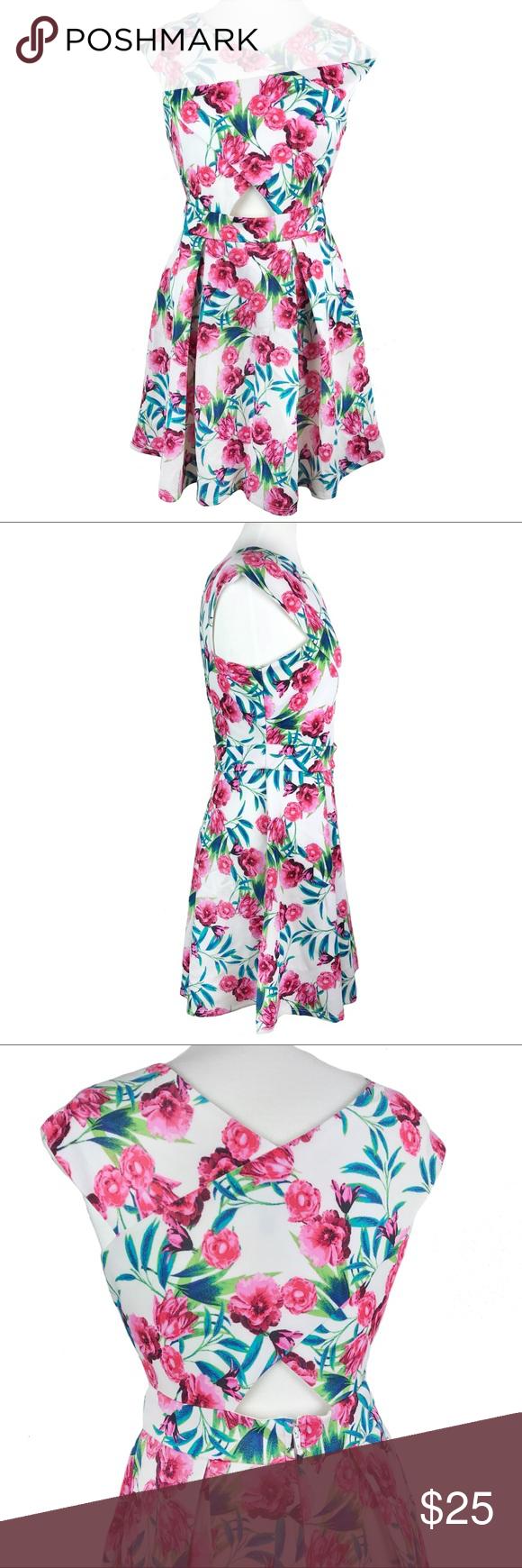 Modcloth Resort Most Ravishing Dress Nwot Floral Fit And