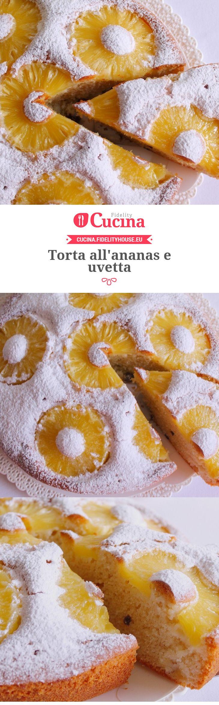 Photo of Torta all'ananas e uvetta